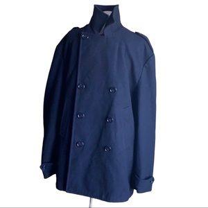 Perry Ellis Wool Men's Black Coat Size XL
